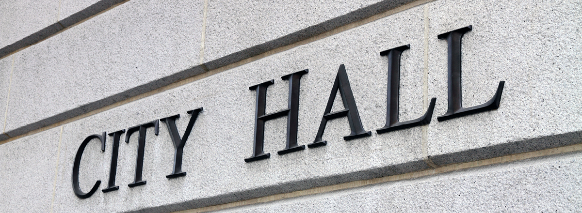 City Hall Lettering on Building