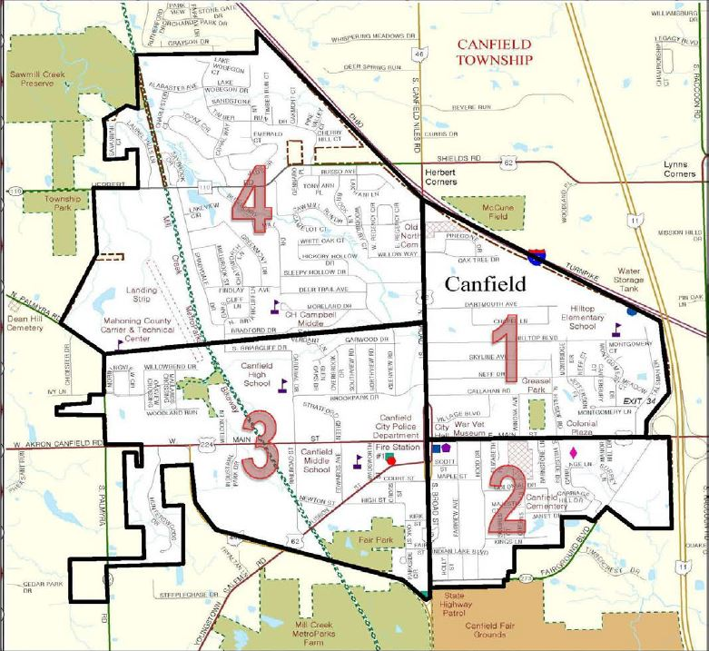 Quadrant Map-City of Canfield