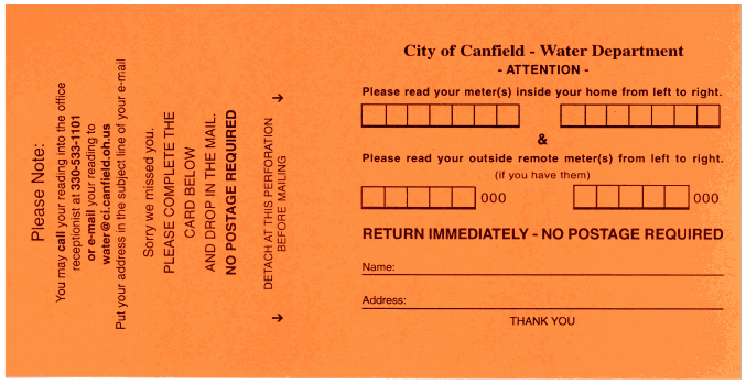 Water-Meter-Reading-Card