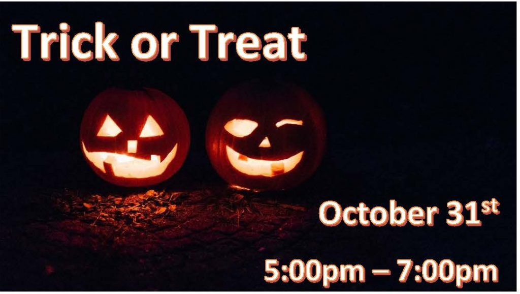 Trick or treat 2021-with date